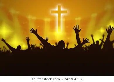 silhouette-christian-prayers-raising-hand-260nw-742764352